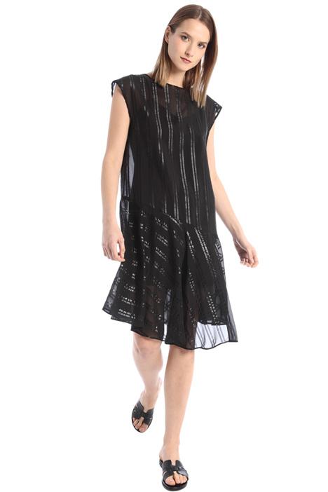 Asymmetrical georgette dress Intrend