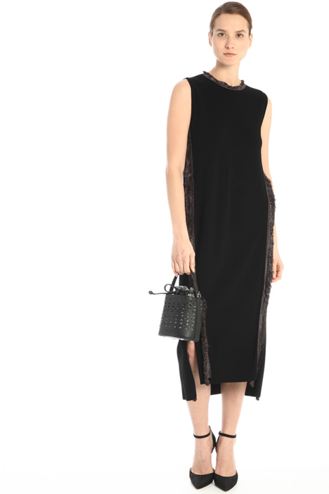 Knit dress with fringes Intrend
