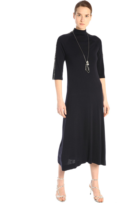Knit dress with sequins  Intrend