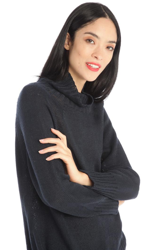 High neck linen sweater Intrend