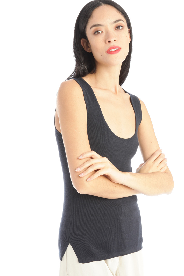 Cotton and silk top Intrend