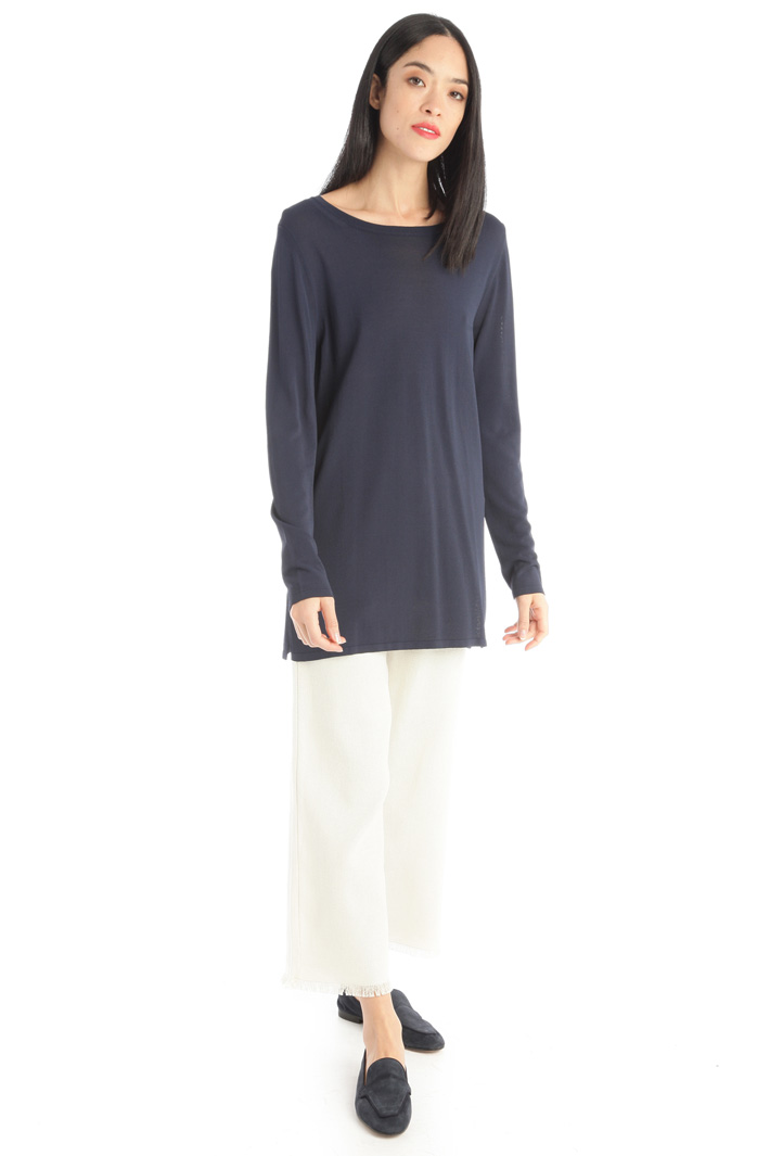 Viscose crepe sweater Intrend