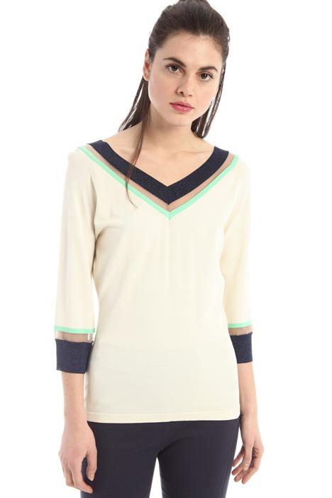 Lurex edge sweater Intrend