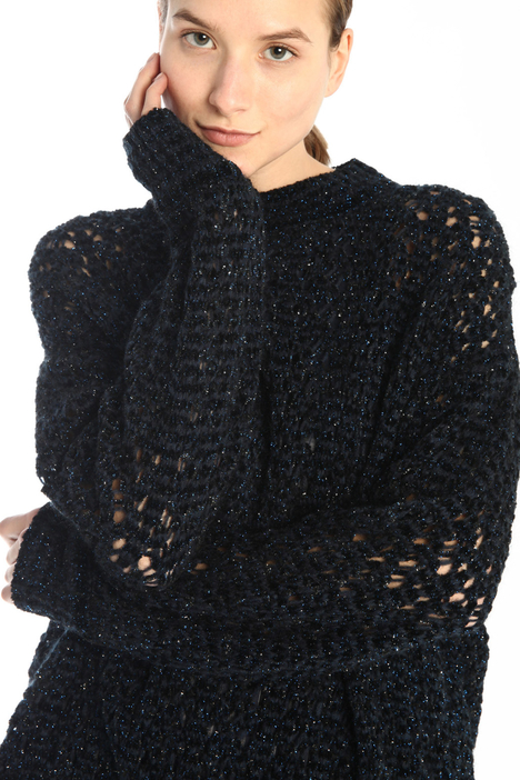 Openwork lamé sweater  Intrend