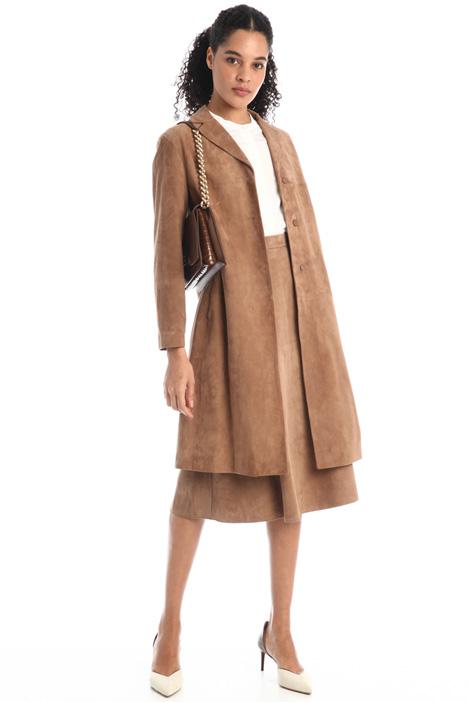 Suede duster coat Intrend