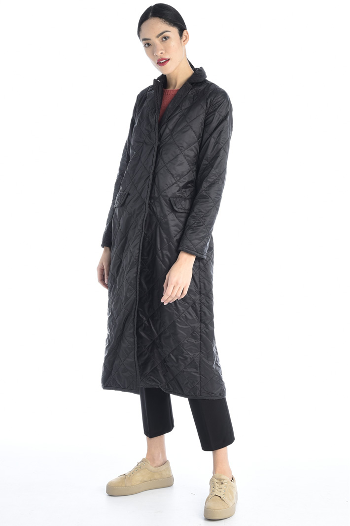 Long quilted overcoat Intrend