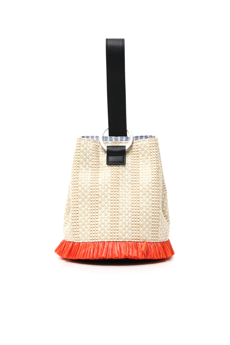 Straw bucket bag Intrend