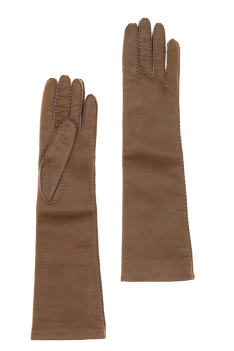Long leather gloves Intrend