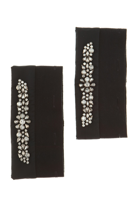 Embroidered taffetà cuffs Intrend