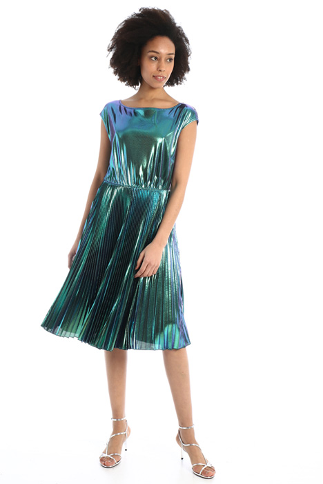 Pleated laminated dress  Intrend