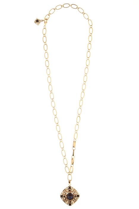Necklace with jewelled pendant Intrend