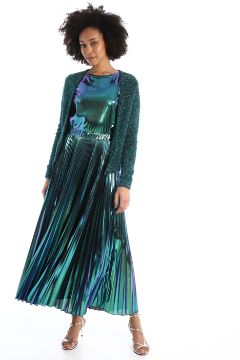 Pleated laminated skirt  Intrend