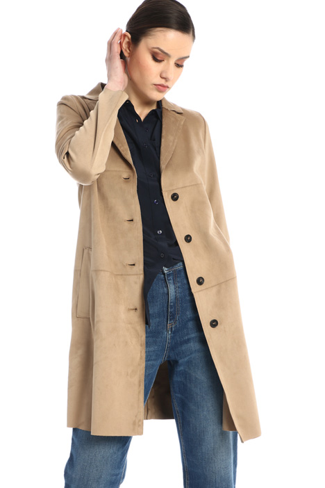 Single-breasted suede coat Intrend