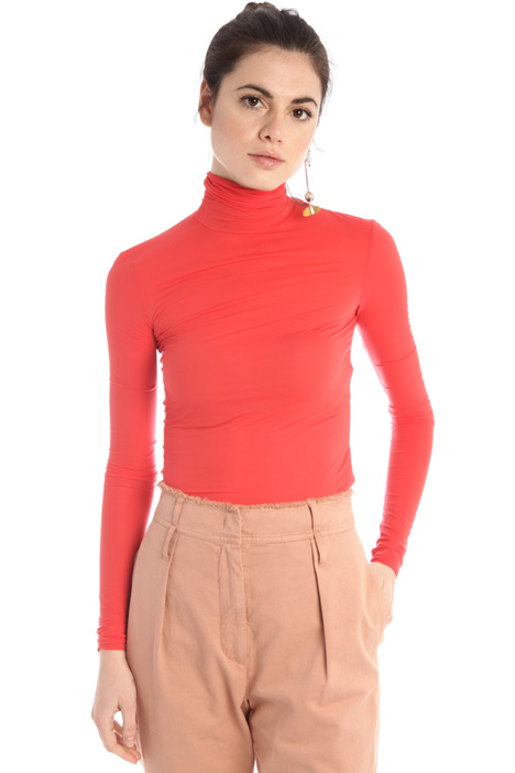 Stretch jersey polo-neck  Intrend