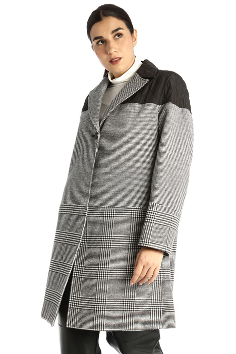 Yarn dyed coat Intrend