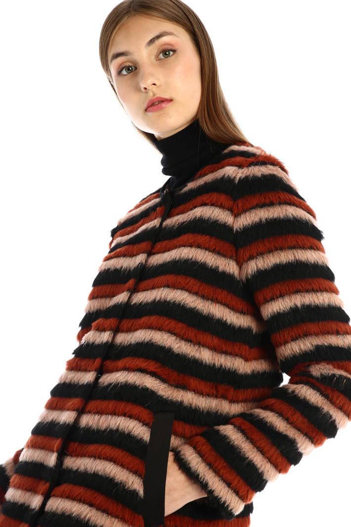 Brushed alpaca blend coat Intrend