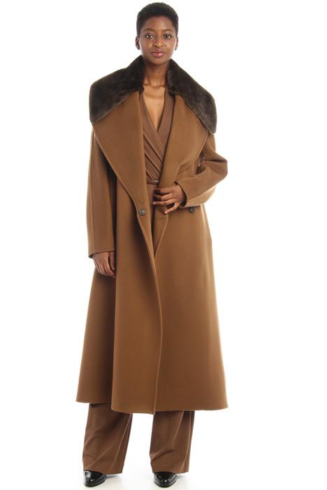 Cappotto cashmere e pelliccia Intrend