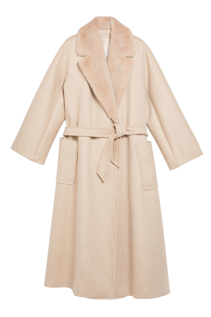 Cashmere and mink coat Intrend