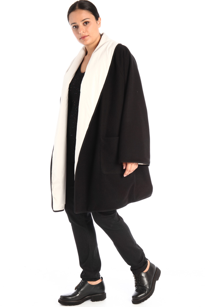 Reversible. coat with gilet Intrend