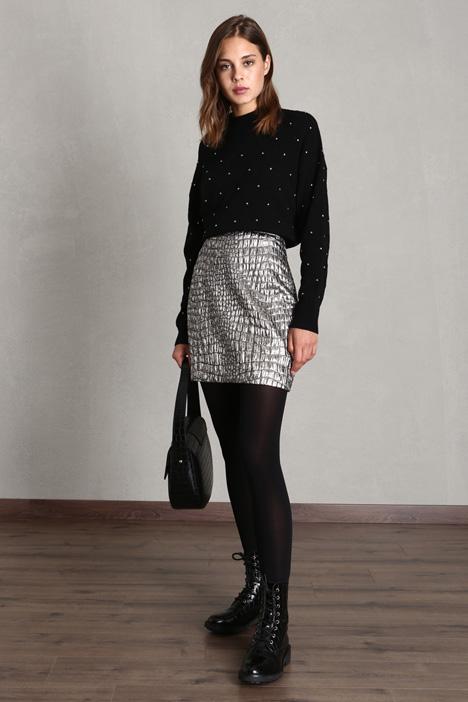 Metallised mini skirt Intrend