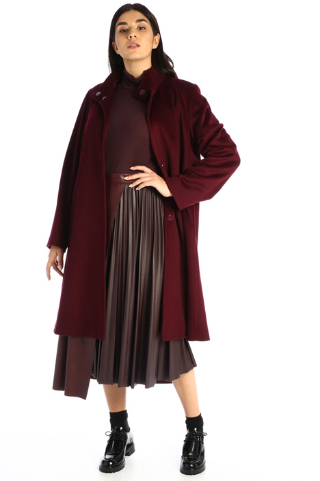 Leather-effect jersey skirt Intrend
