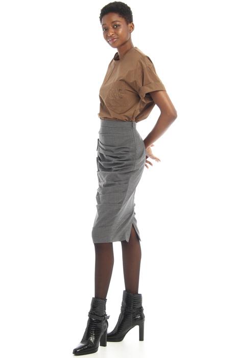 Draped pencil skirt Intrend