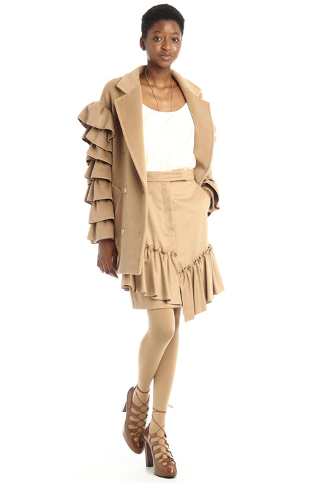 Camel ruched skirt Intrend