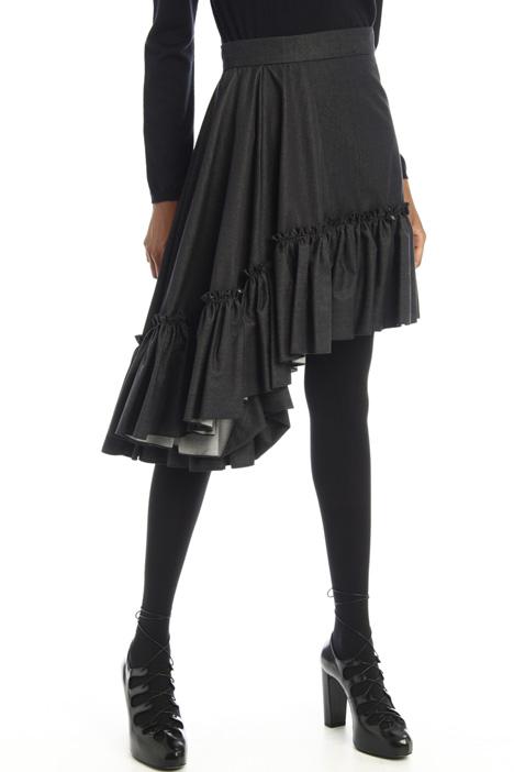 Denim-effect cotton skirt Intrend