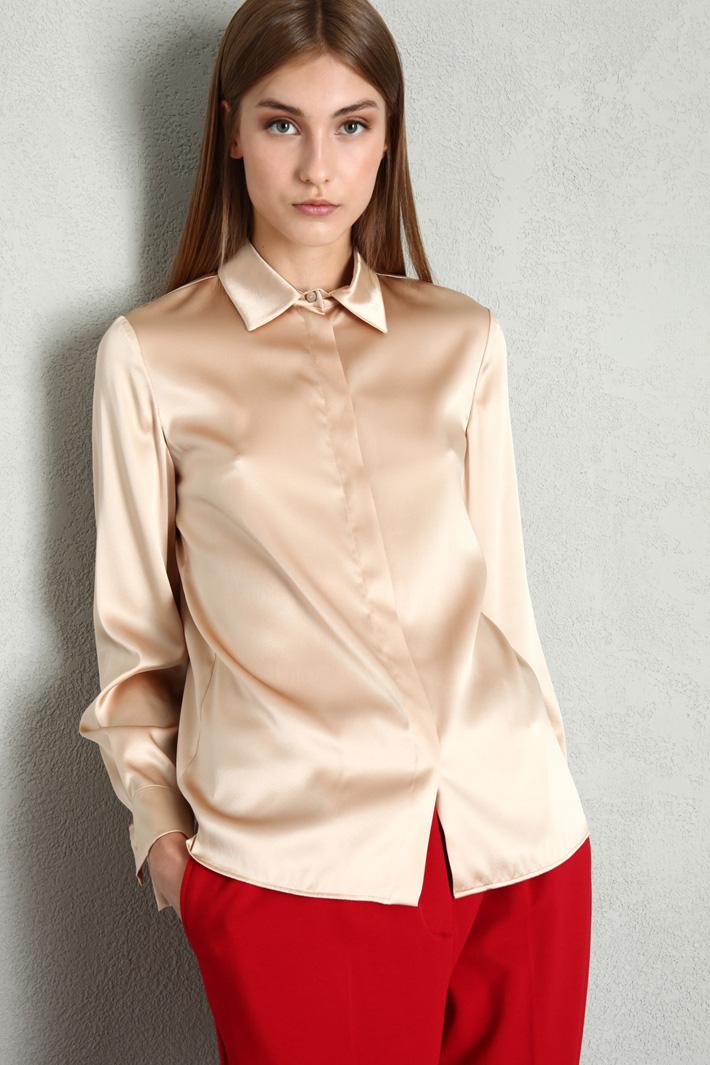 Stretch silk satin blouse Intrend