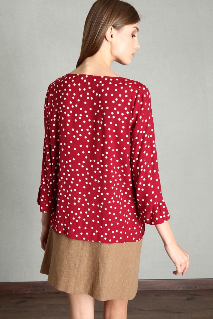 Printed sable blouse Intrend
