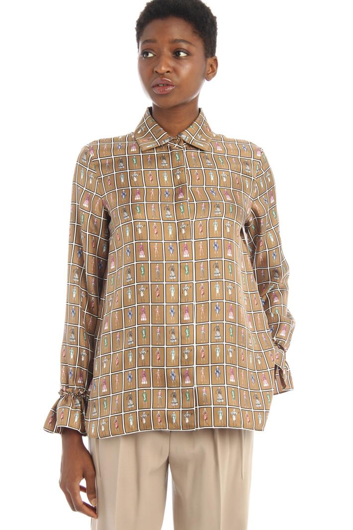 Silk twill shirt Intrend