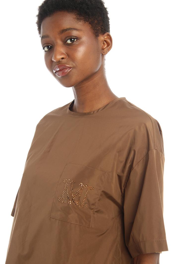 Rhinestone taffeta t-shirt Intrend