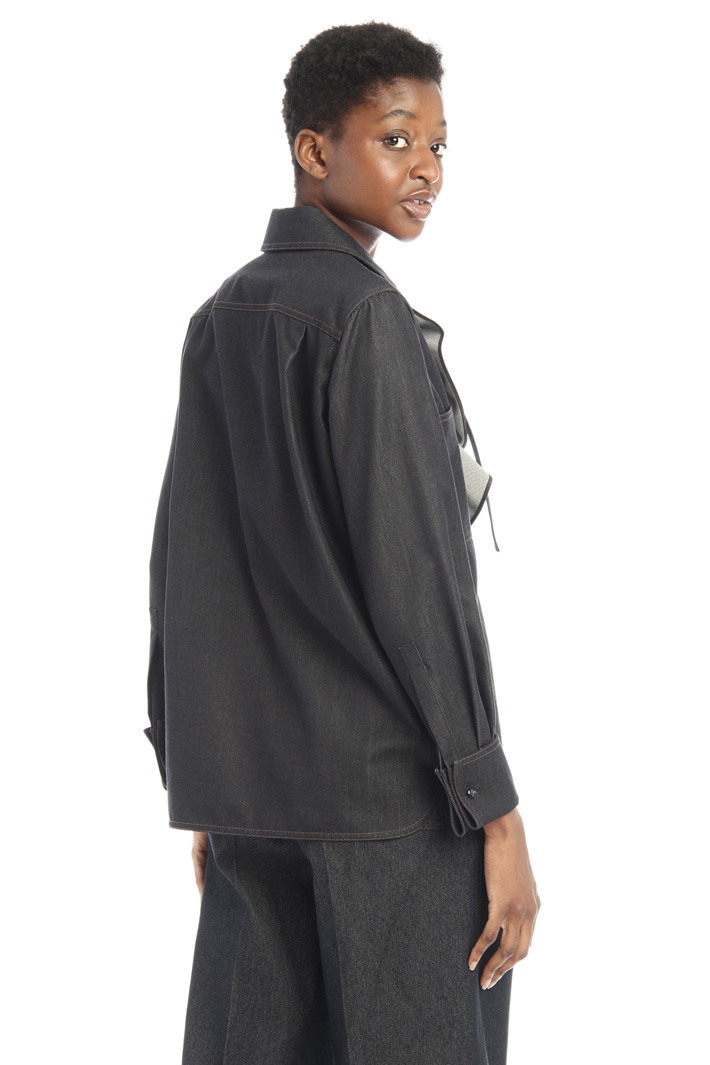 Denim-effect cotton shirt Intrend