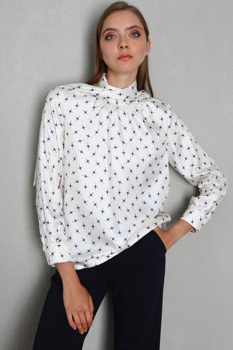 Foulard neck silk shirt Intrend