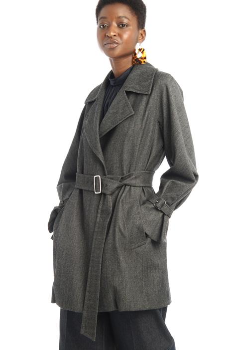 Denim-effect duster coat Intrend