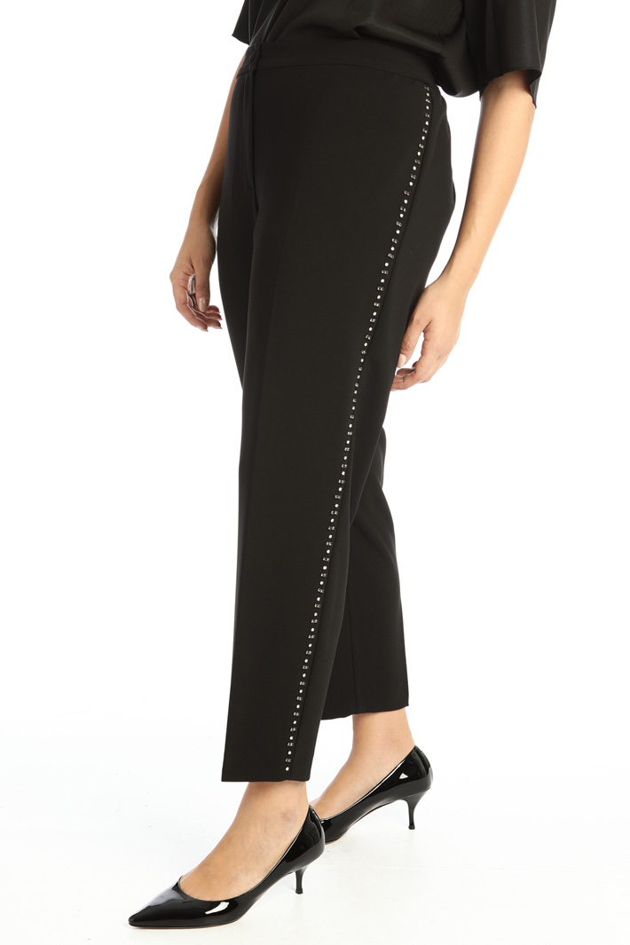 Trousers with rhinestones Intrend