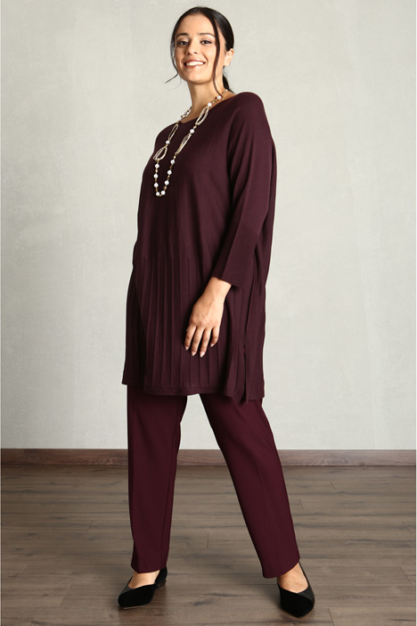 Trousers in stretch crepe Intrend