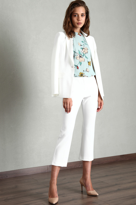 Cropped compact trousers Intrend