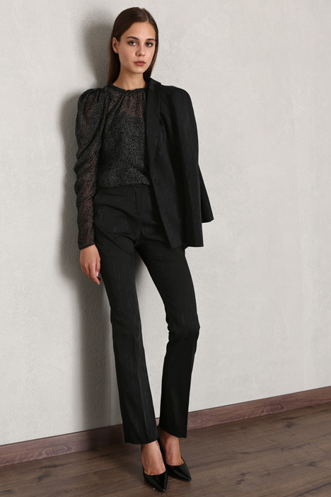Straight jacquard trousers Intrend