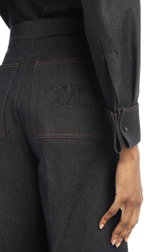 Wide denim-effect trousers Intrend