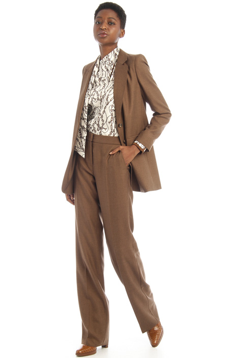 Camel and silk trousers Intrend