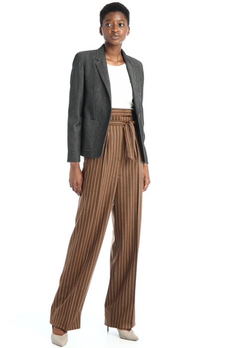 Pinstriped wool trousers Intrend