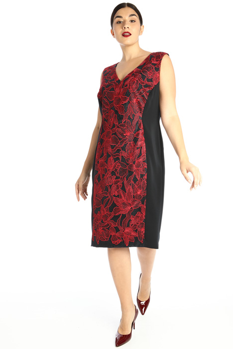 Embroidered dress with tulle Intrend