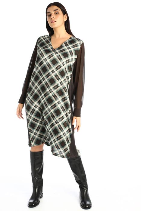 Printed twill dress Intrend