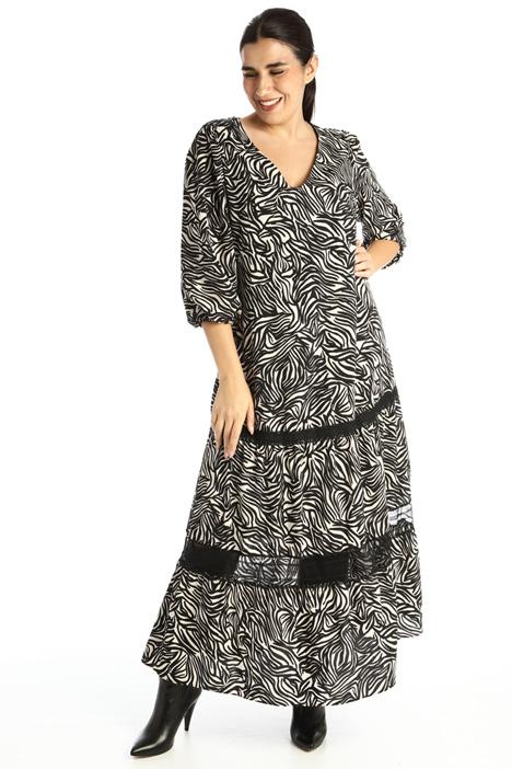Printed crepe dress Intrend
