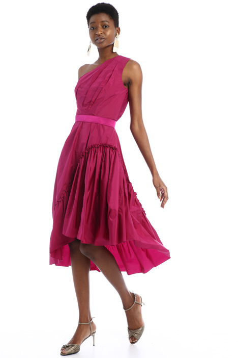One-shoulder taffeta dress Intrend