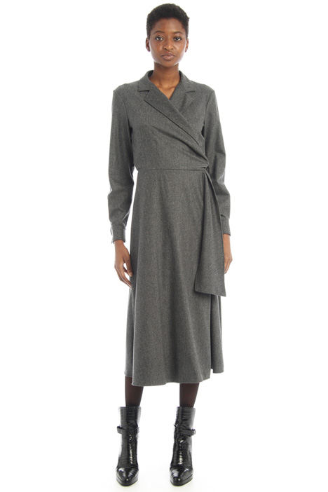 Wrap-up flannel dress Intrend