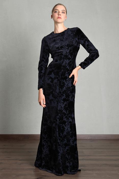 Printed velvet dress Intrend