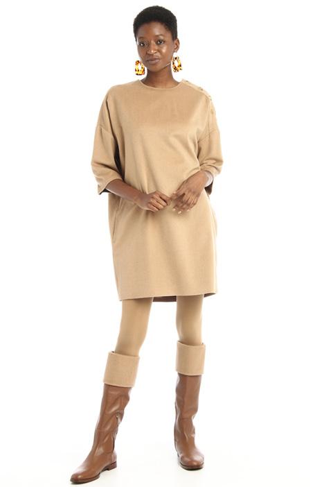 Buttoned camel dress Intrend