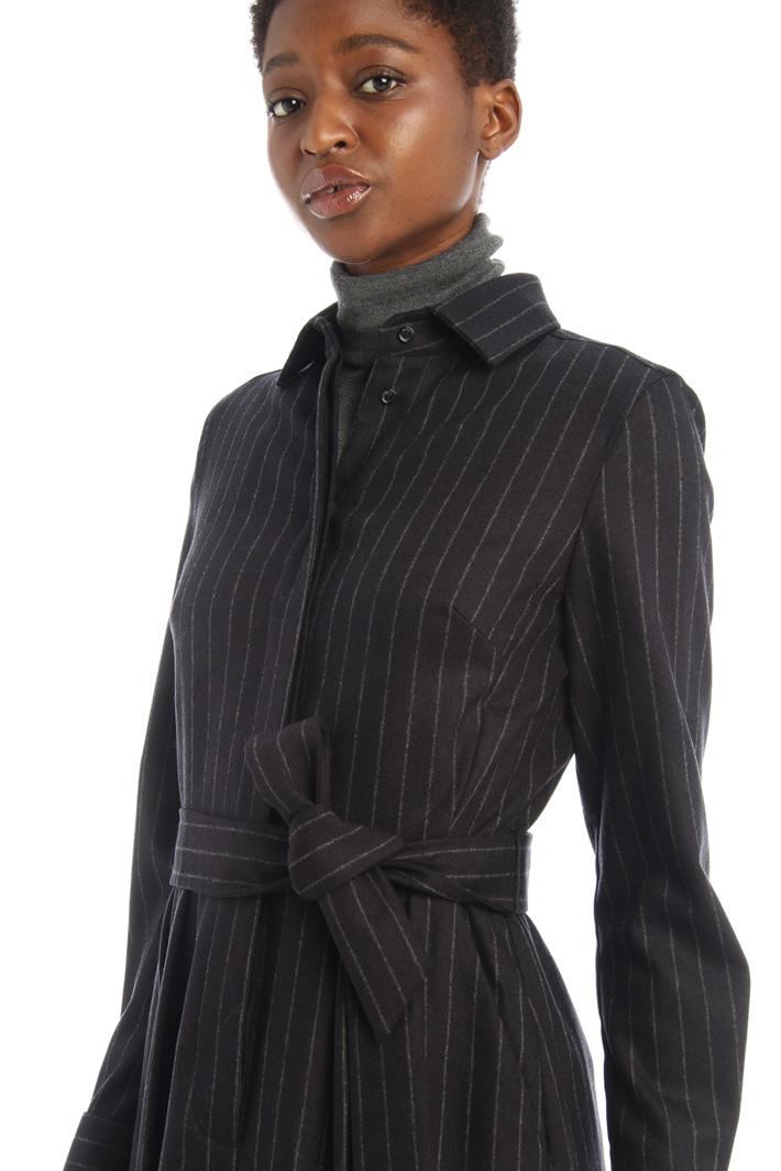 Pinstriped flannel dress Intrend
